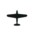 simple black airplane icon on white background vector image