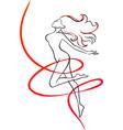 Slenderness Slim girl vector image