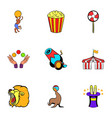 tent icons set cartoon style vector image