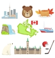 Canadian National Symbols Set vector image