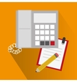 Phone notebook and pencil design vector image