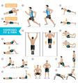 Man workout fitness aerobic and exercises vector image