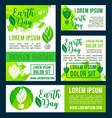 earth day green nature environment design vector image