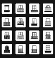 window forms icons set squares vector image