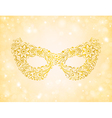 beautiful silhouette golden mask on the background vector image vector image