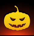 Icon halloween pumpkin on black background vector image
