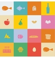 icons food and products in flat style vector image