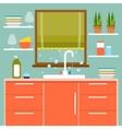 Kitchen interier vector image
