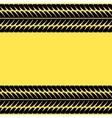 Tire tracks on yellow vector image