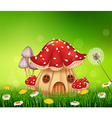 Beautiful home mushroom house vector image