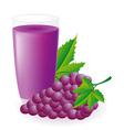 blue grape juice vector image vector image