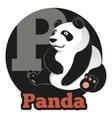 ABC Cartoon Panda vector image