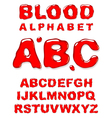 blood alphabet letters set vector image