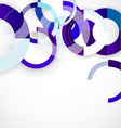 Blue rings geometric shapes abstract background vector image