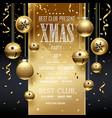 christmas party design golden vector image