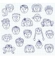 hildren doodle faces vector image