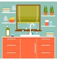 Kitchen interier vector image