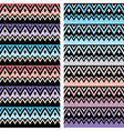Tribal seamless two patterns aztec ombre print vector image