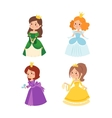 Princess set vector image