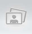 Personal foto album content icon vector image