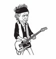 Keith Richards of The Rolling Stones Cartoon vector image