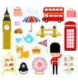 london cartoons set vector image