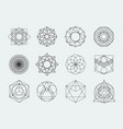Sacred geometry symbols collection set of hipster vector image