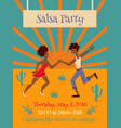salsa party vector image
