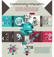 Communication Infographics Set vector image vector image