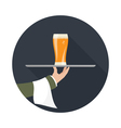 icon beer vector image