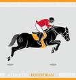 Athlete rider vector image