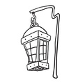 black and white hanging lamp vector image