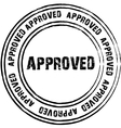 Black stamp for approved vector image