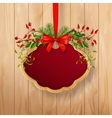 Christmas Sign Board vector image