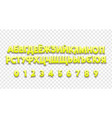 cyrillic font 3d a cheerful set of letters for vector image