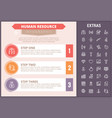 human resource infographic template and elements vector image