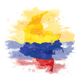 map of Colombia Watercolor paint vector image
