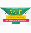 modern sale and coupons voucher design template vector image