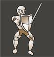 Vintage medieval warrior vector image