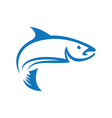 Fish logo template vector image