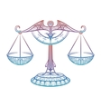 Justice scales Zodiac Libra zentangle sign vector image