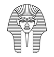 Egyptian pharaohs mask icon outline style vector image