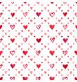 watercolor hearts pattern vector image