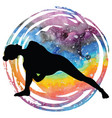 women silhouette fully bound side angle yoga pose vector image