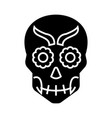 Mexican skull icon black vector image