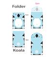 Foider koala vector image