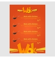 Wok cafe menu template design Flat style vector image