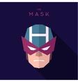 Mask superhero burgundy strict hero to flat design vector image