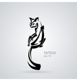 image of a kindly and friendly domestic cat vector image