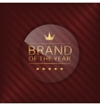 Brand glass label vector image